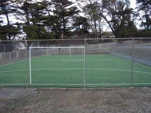 Futsal court after